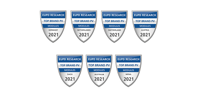 "Suntech Awarded ""Top Brand PV 2021"" Seal by EuPD Research"